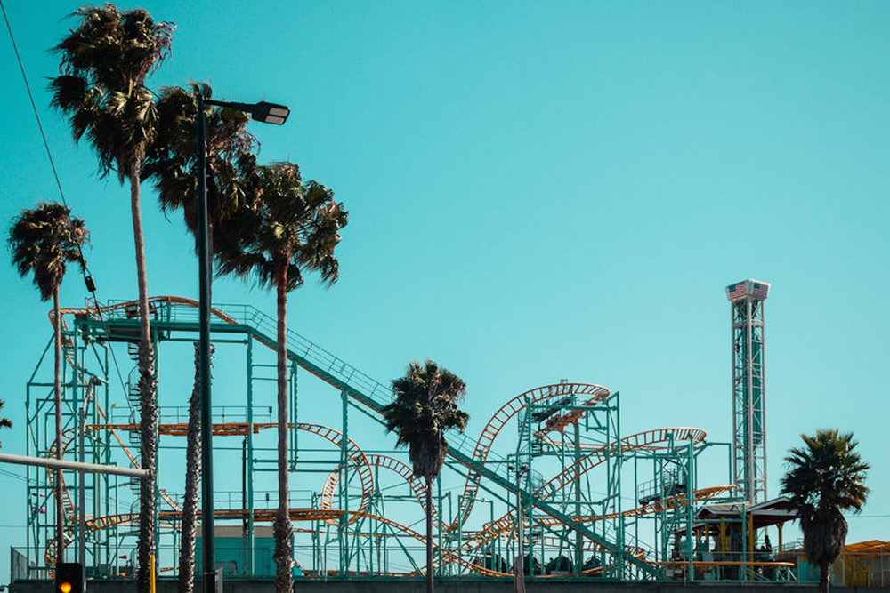 Santa Cruz Beach Boardwalk has fun and games for the whole family.