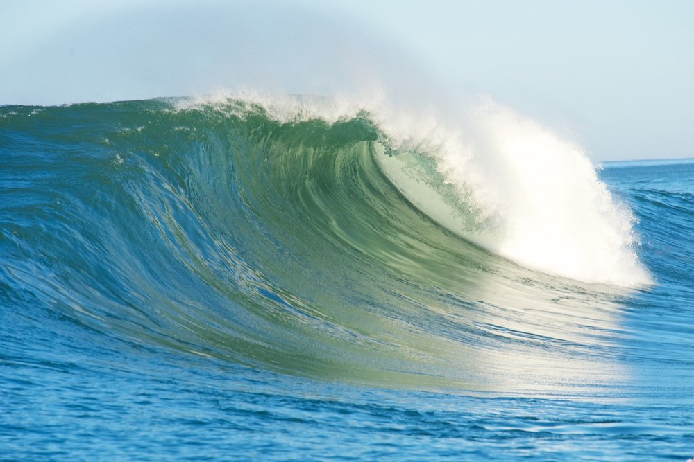 Waves at the Mavericks Challenge in Monterey Bay can be as large as 60 feet tall.