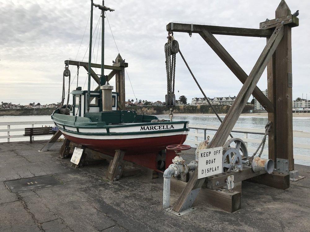 Santa Cruz Wharf boat display