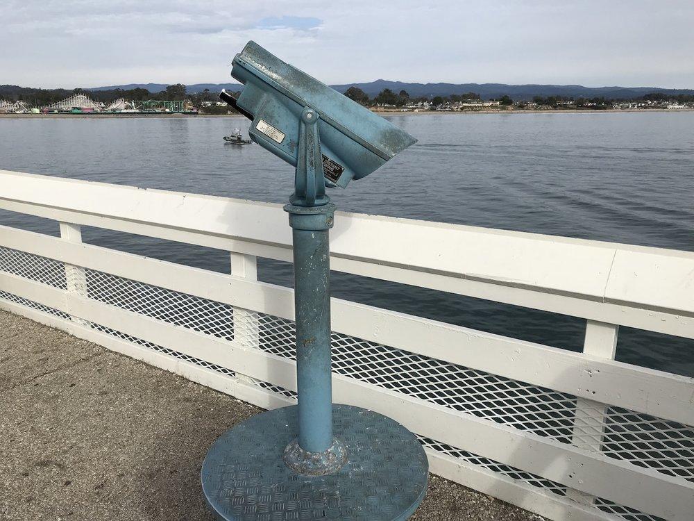 Santa Cruz Municipal Wharf telescope