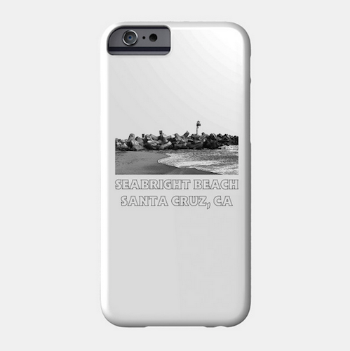 Seabright Beach, Santa Cruz Phone Case (White).  Available in Slim and Protective styles for a variety of iPhones and Galaxy phones. Access to all ports. Fade and scratch resistant.   Order Here.   Reg:    $25 - $30