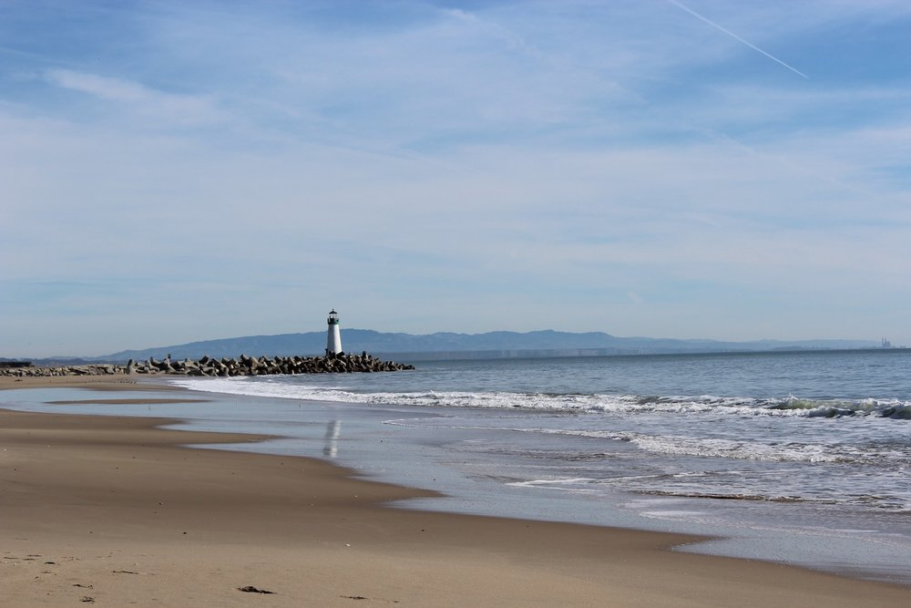 Take a stroll along the beach and check out Walton Lighthouse and the Santa Cruz Yacht Harbor.