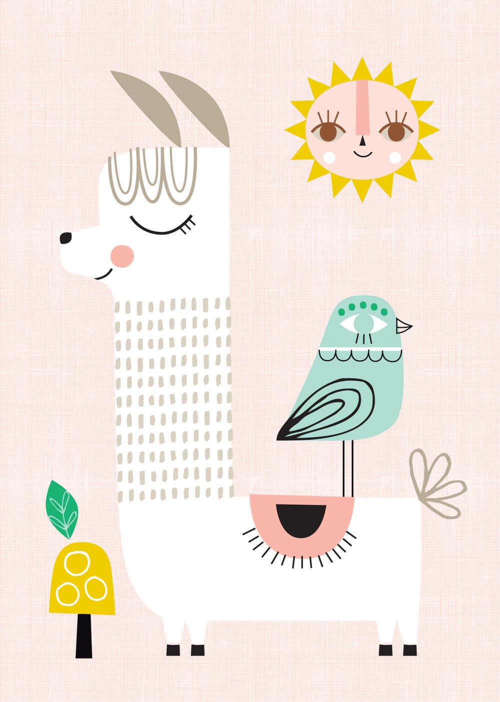 Sunshine Llama, Pink