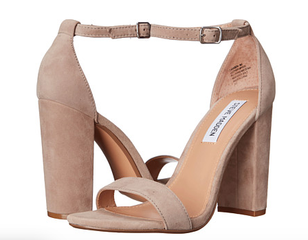 These are my go to heels in warmer temps; the block heel makes them so comfortable. My beloved tan pair had seen better days, so I replaced them with the taupe pair. Still neutral and great for white jeans.