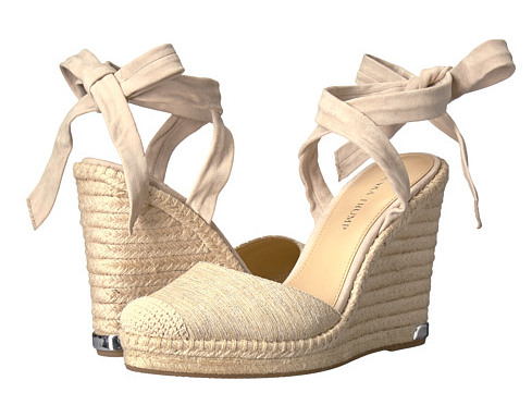 DO NOT walk, RUN to get these wedges. They are my absolute favorite shoes right now. They are ridiculously comfortable, they go with everything, and can be tied in so many ways. To say I love them is an understatement. Thinking I need the black and light pink pair.
