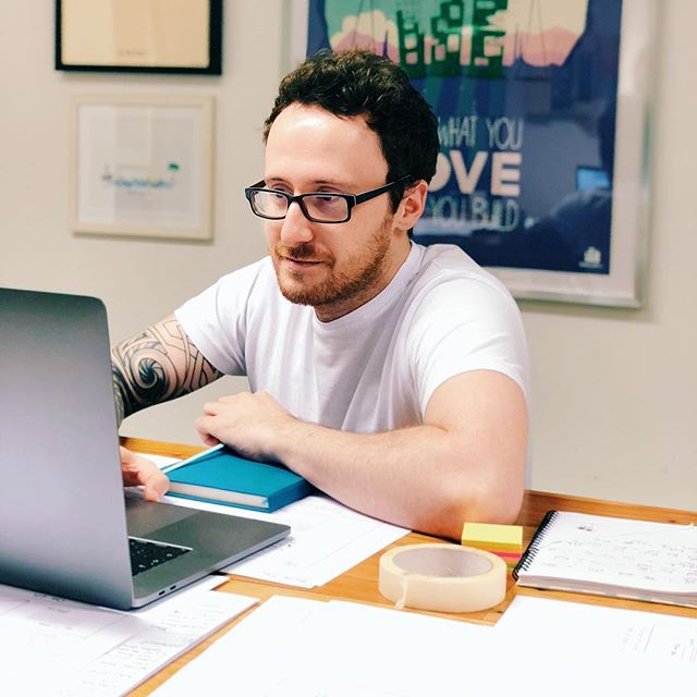 This is @andymac1712. He runs design @minicorp. This is his natural habitat where he deconstructs product flows and builds them up into great user experiences and designs. Andy is a pretty amazing guy.