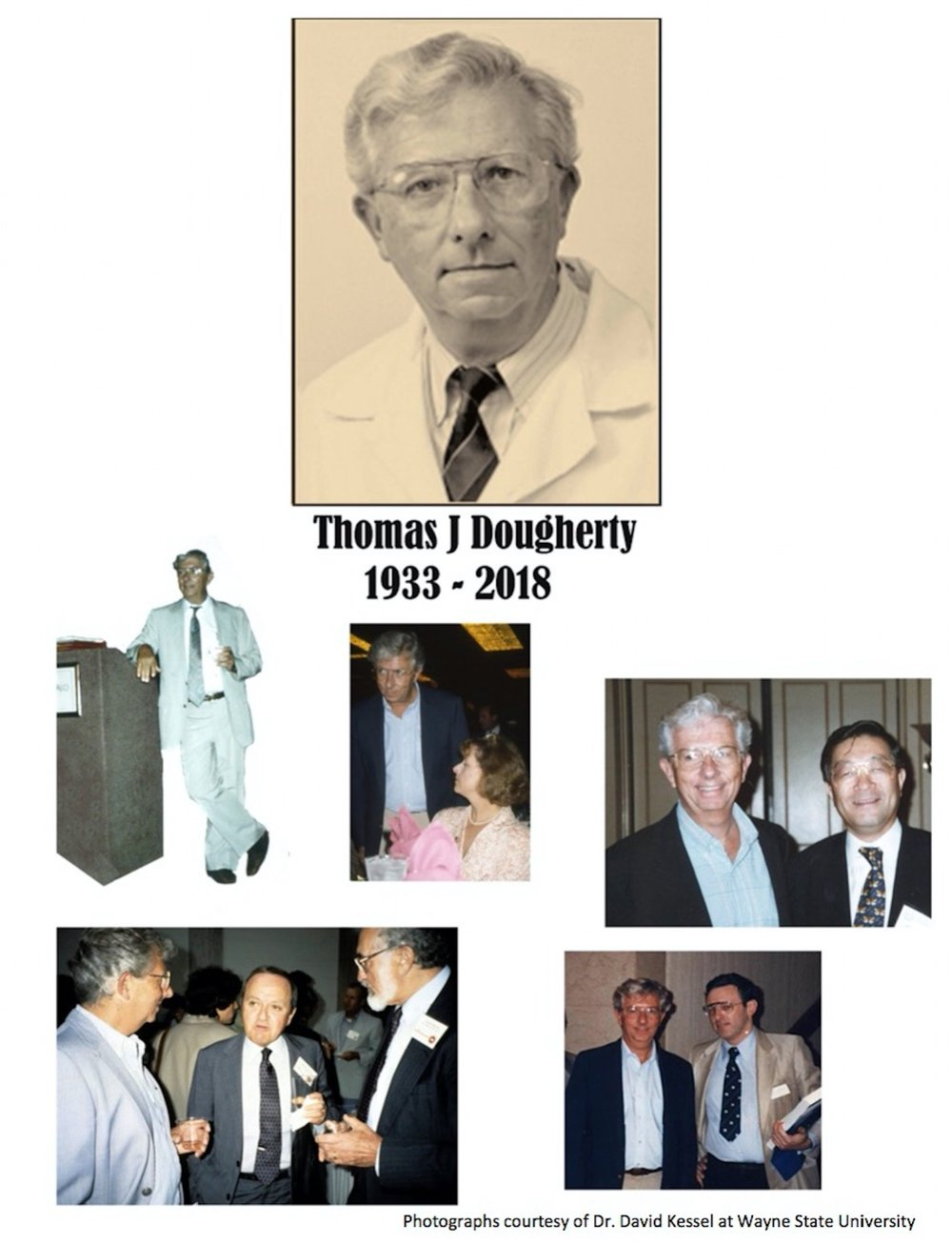 Thomas Dougherty attending various meetings and conferences over the years.