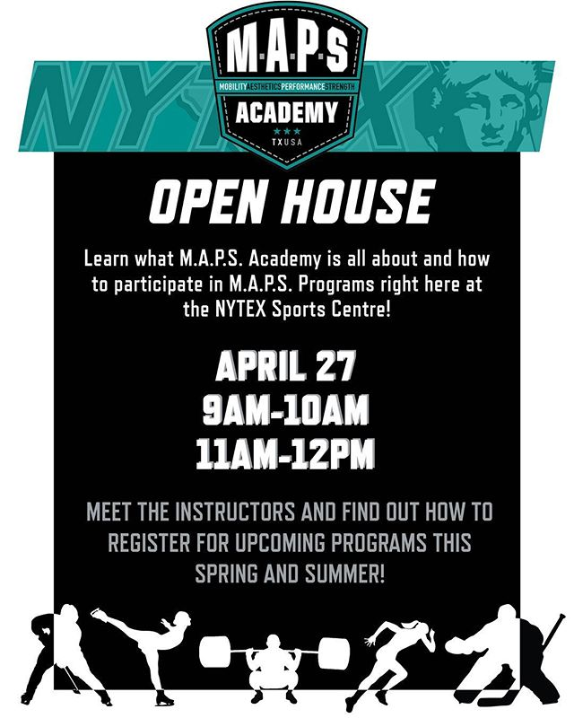 Join us April 27th for an inside look at our summer programs!  #Repost @smariesupdates with @get_repost ・・・ M.A.P.S. Academy (Programs Offered At Nytex)  OPEN HOUSE Saturday, April 27th  Mobility Aesthetics Performance Strength comes to NYTEX Sports Centre!  M.A.P.S Academy of physical development set to arrive in North Richland Hills to work with hockey players, figure skaters, and volleyball players on their physical journey as an elite athlete.  Specializing in speed, explosive power, and conditioning, M.A.P.S. also works on flexibility, injury prevention, and nutrition.  M.A.P.S. will provide specialized programs for High School, College, Middle School and Adults.  Brahmas Team Training and Semi-Private Training, will be provided through many different programs such as:  Team Speed and Power, Competitive Figure Skater Performance Program, HS/College Performance Program, and Middle School Programs for younger players.  Led by Christian Ballard, he brings with him a staff of highly trained instructors.  M.A.P.S. is having an open house at NYTEX Sports Centre on Saturday, April 27th from 9:00AM to 10:00AM and 11:00AM to Noon.  Come out and meet the instructors and learn more about the programs they will be offering throughout the spring and summer.  http://www.nytexsports.com/maps/ (Please share Post). . . . . . . . . . . . . #HockeyLife #HockeyMom #GrowingUpHockey #JrBrahmasHockey #TxJrBrahmas #TxJrBrahmasHockey #DFWHockey #DFWYouthTravelHockey #DallasYouthTravelHockey #BantamHockey #SmariesUpdates #smariesupdatesgrowinguphockey #LittleBear #HockeyTeam #TravelHockey #HockeySeason2018 #NAHL #LoneStarBrahmas #NHL #LoneStarBrahmasNAHL #Nytex #NytexSportsCentre #DFWHighSchoolHockey #BirdvilleHockeyClub #HighSchoolHockey  #AttDFWMetroplexHighSchoolHockey