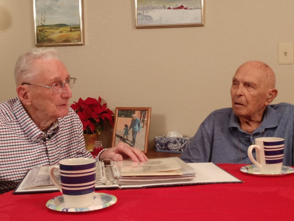 "2LT robert mcadam, 97, and sherwin ""butch"" desens, 95, reminisce about their time at stalag luft one in germany."