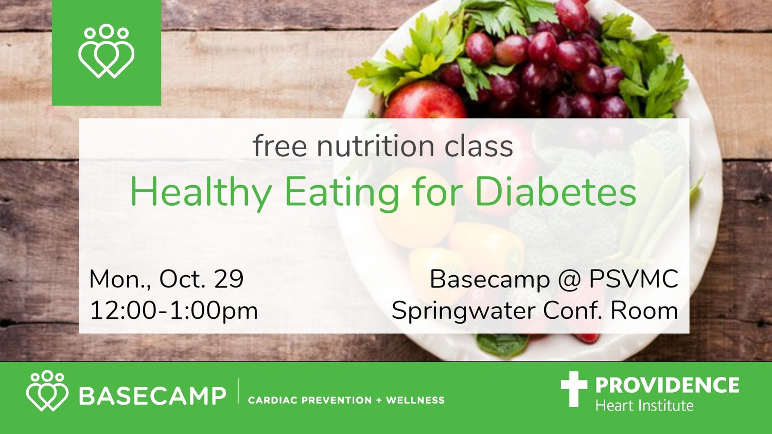FREE Nutrition Class: Healthy Eating for Diabetes — Basecamp