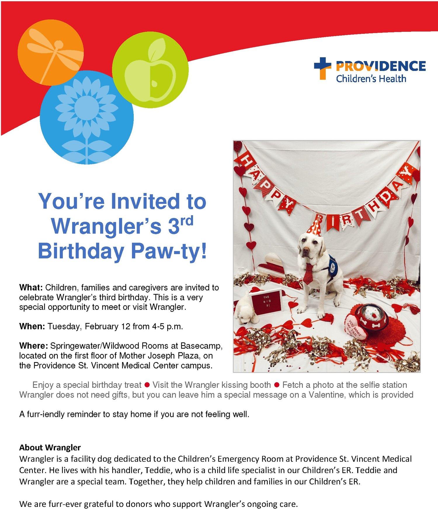 Wrangler's Birthday Paw-ty! — Basecamp