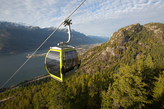 Sea To sky gondola will wisk you up to 885m in 10 minutes!