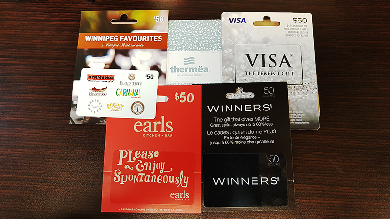 My Place Gift Card Prizes