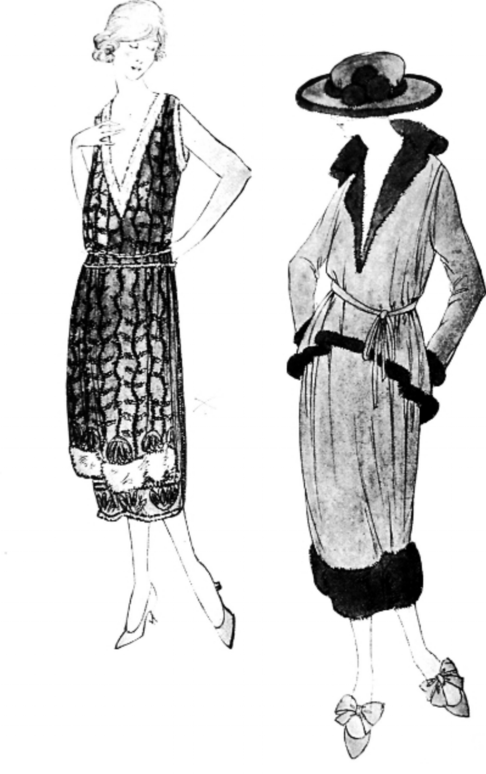 A few Chanel sketches. - dressingvintage.com