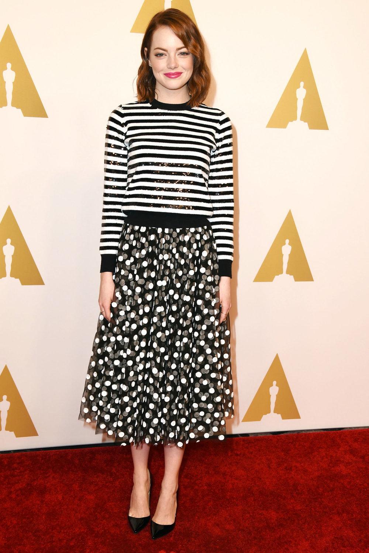 In Michael Kors at the 2015 Oscar Nomenees' Luncheon. Photo: harpersbazaar.com