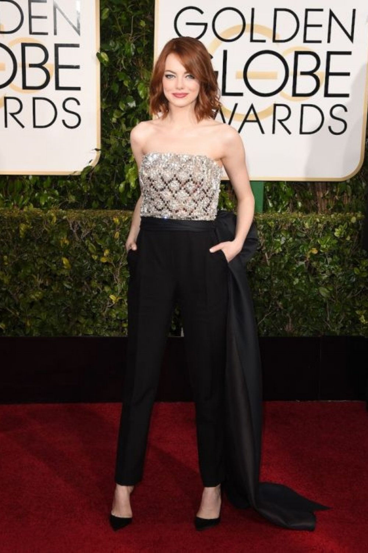 In a Lanvin jumpsuit for the 2015 Golden Globes. Photo: elle.com