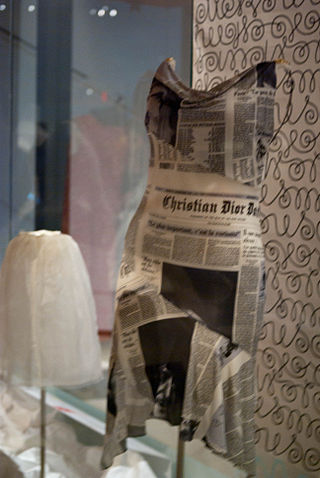 "John Galliano dress from the ""Homeless Show"""