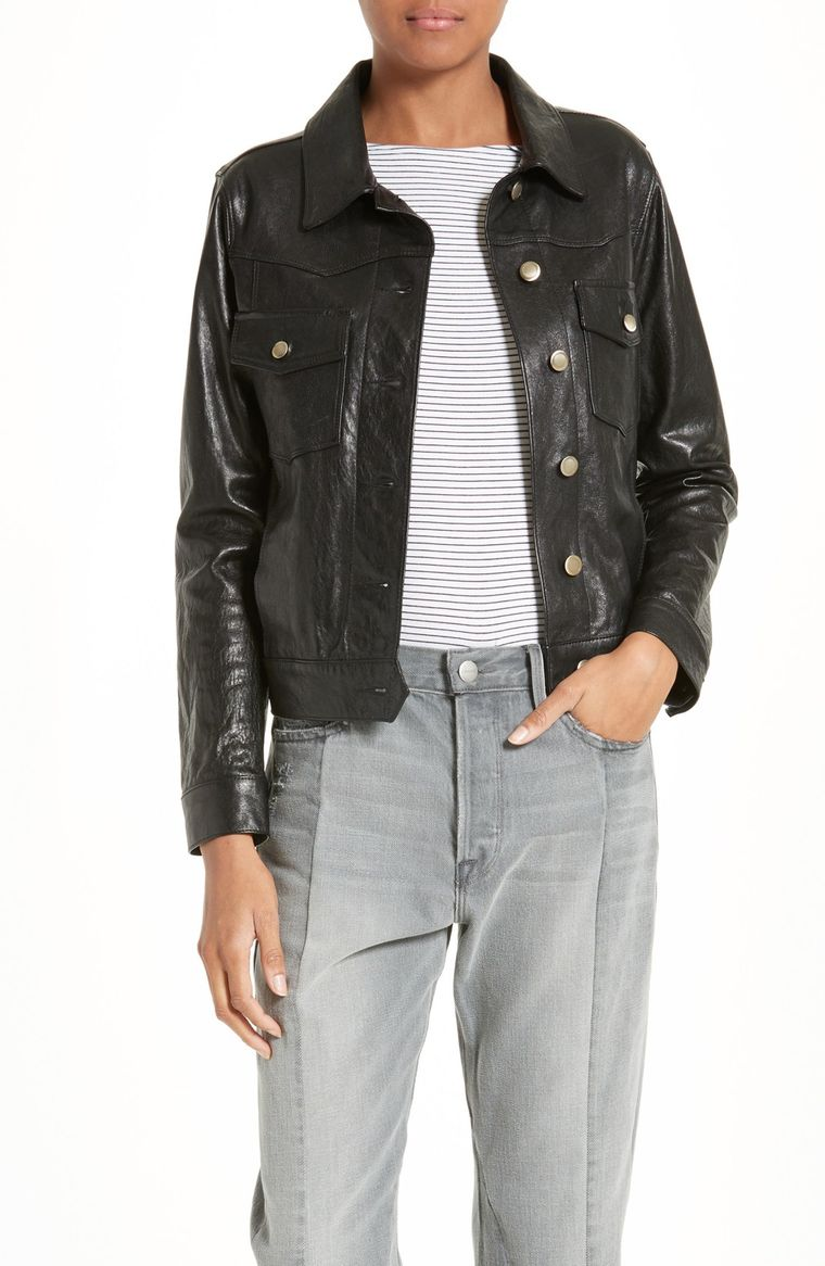 Frame cropped leather jacket - photo courtesy of nordstrom.com