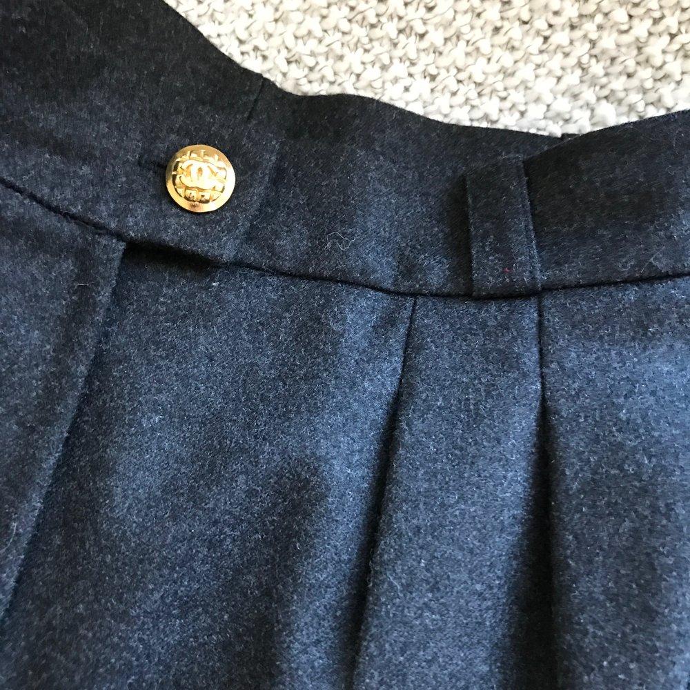 Pleat Detail - Vintage Chanel Pants