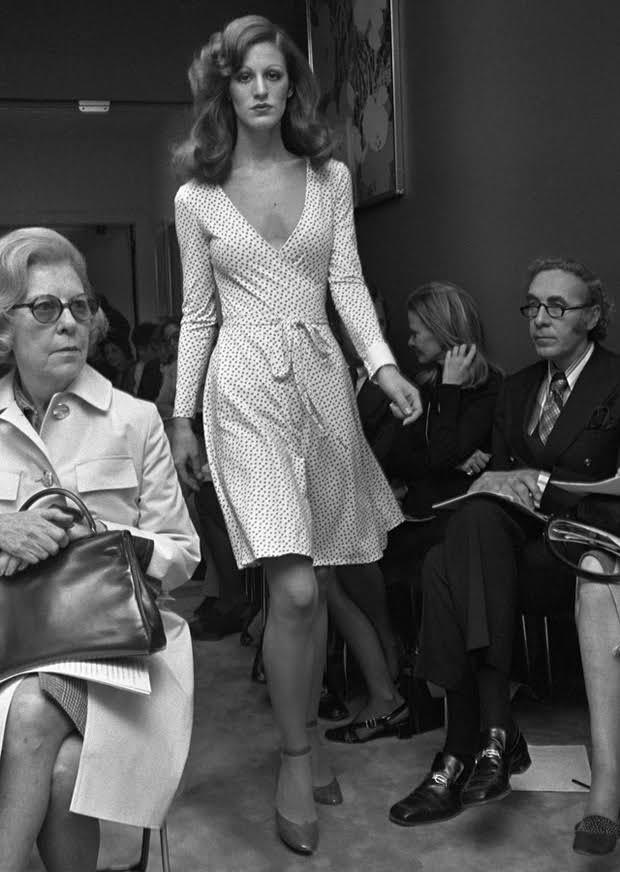 The iconic wrap dress - photo courtesy of vogue.com