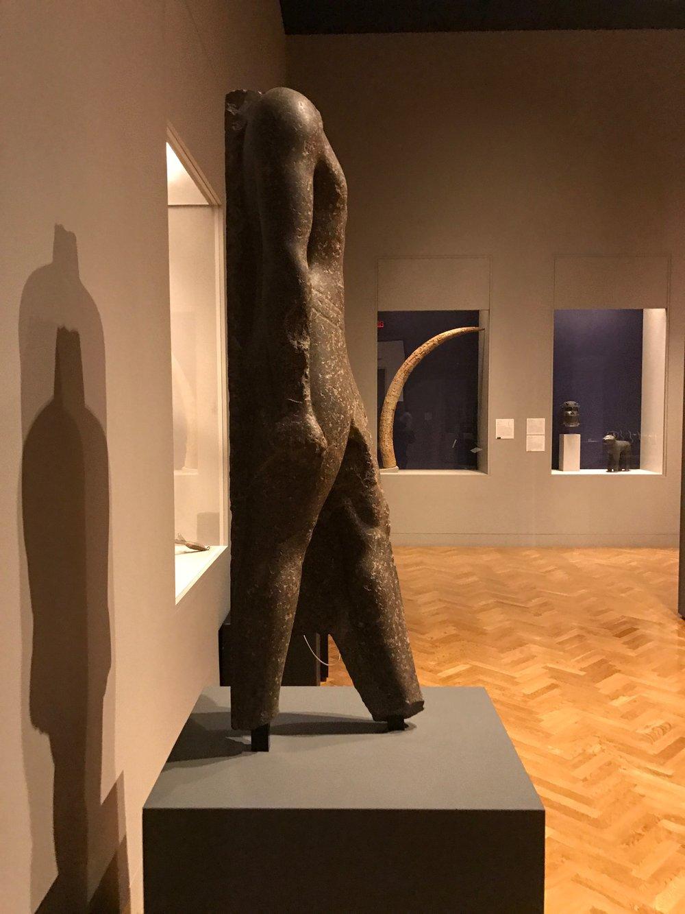 Side View Egyptian Status - Minneapolis Institute of Arts