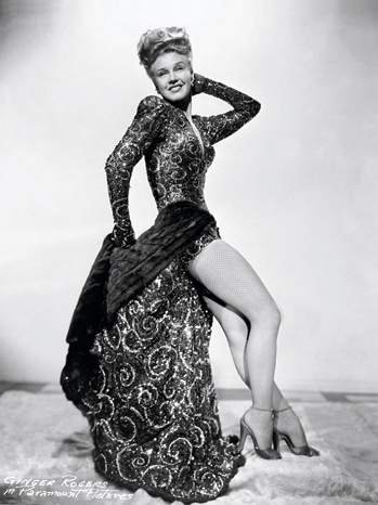 Ginger Rogers in Edith's extravagant mink-lined dress.