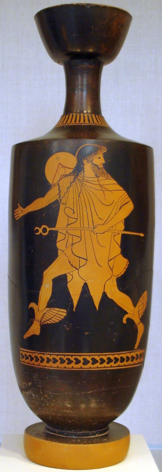 Hermes wearing a Chlamys