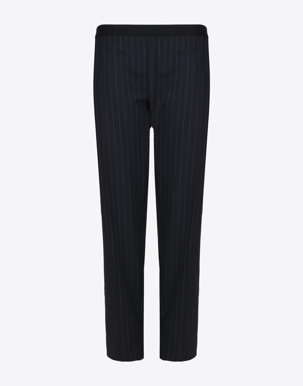 Maison Margiela Pin Striped Virgin Wool Trousers