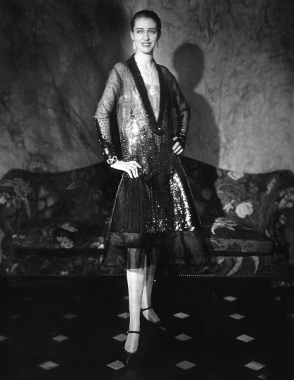 Marion Morehouse wearing Chéruit and photographed by Edward Steichen.