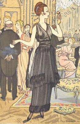 Robe du soir de Chéruit - La Gazette du Bon Ton , 1914.