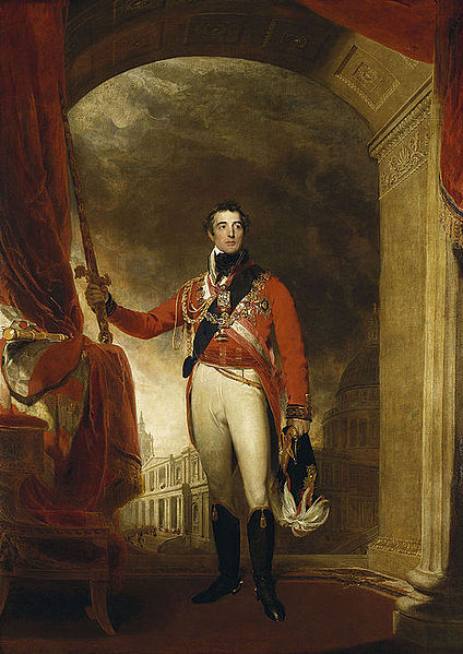 Arthur Wellesley, first Duke of Wellington. Image courtesy of wkimedia.org.