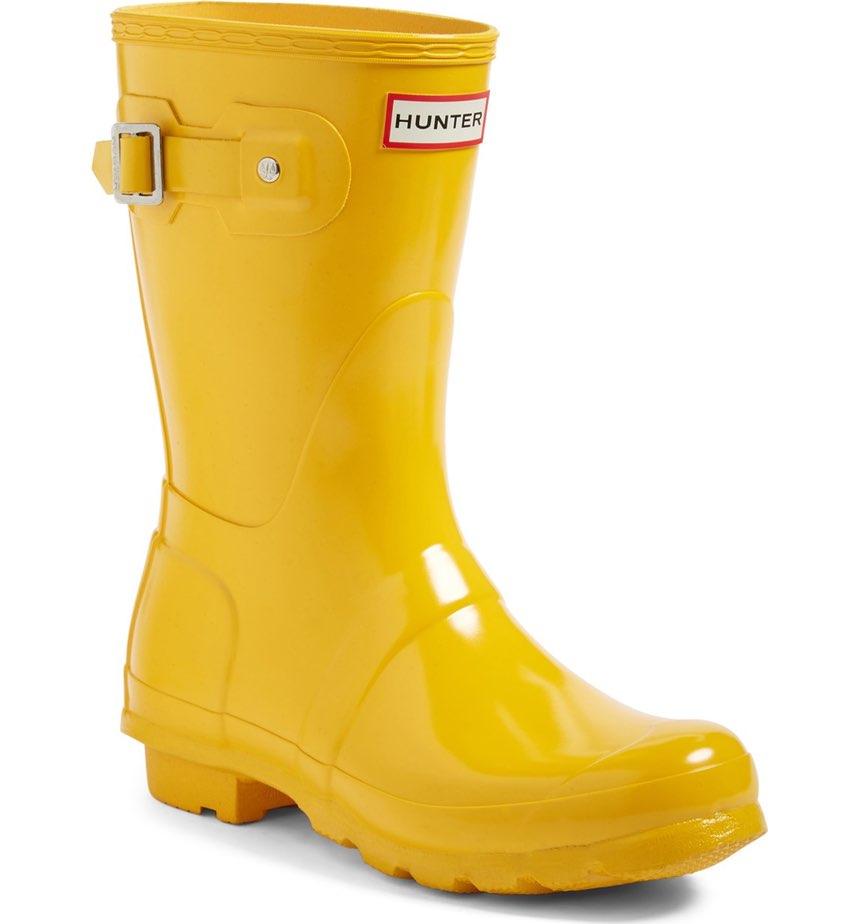 Hunter 'Original Short' Gloss Rain Boot