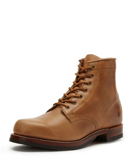 Frye John Addison Lace Up Leather Boot