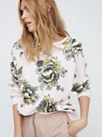 """Free People """"Go On Get"""" Floral Pullover"""