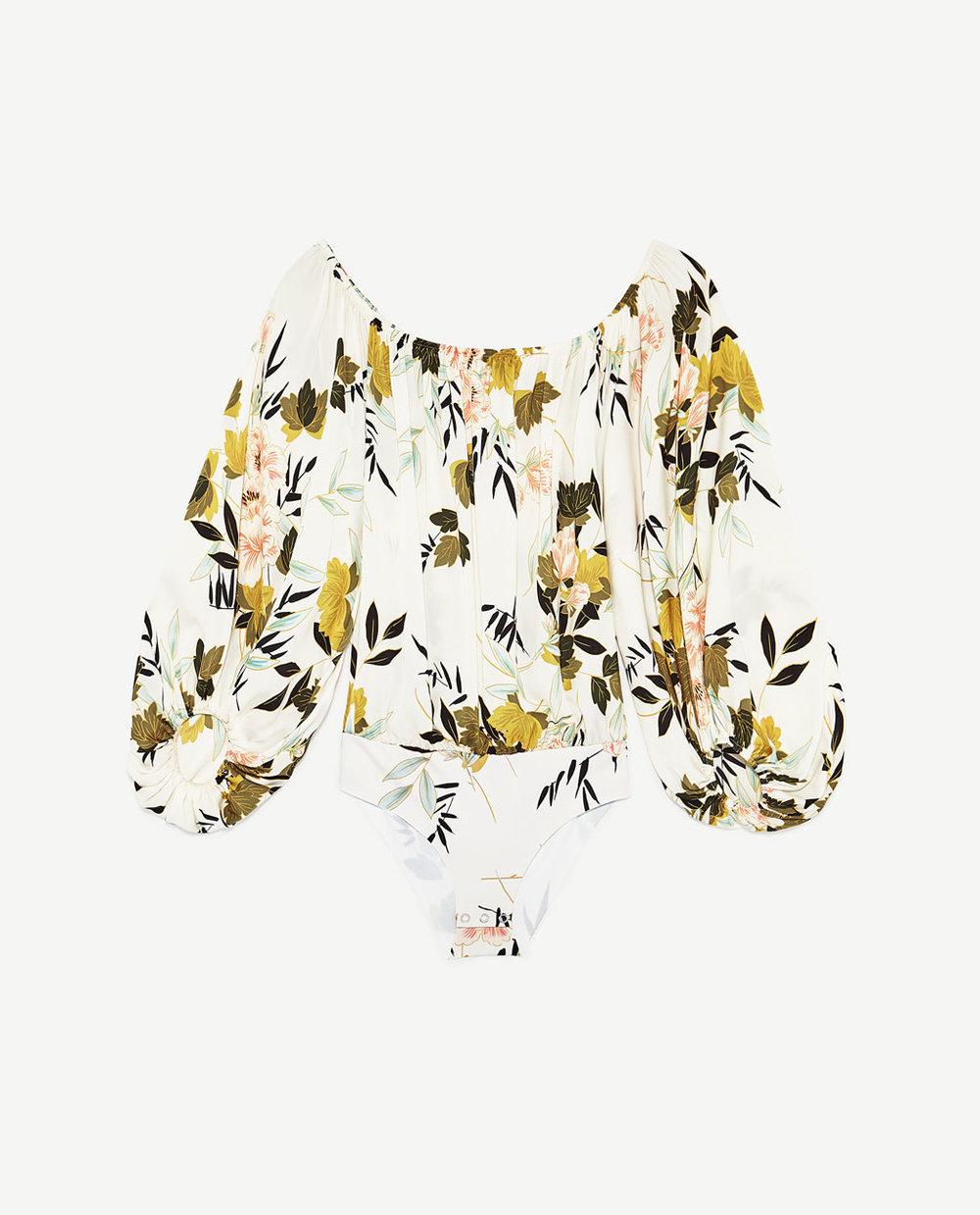 Zara - Floral Print Bodysuit