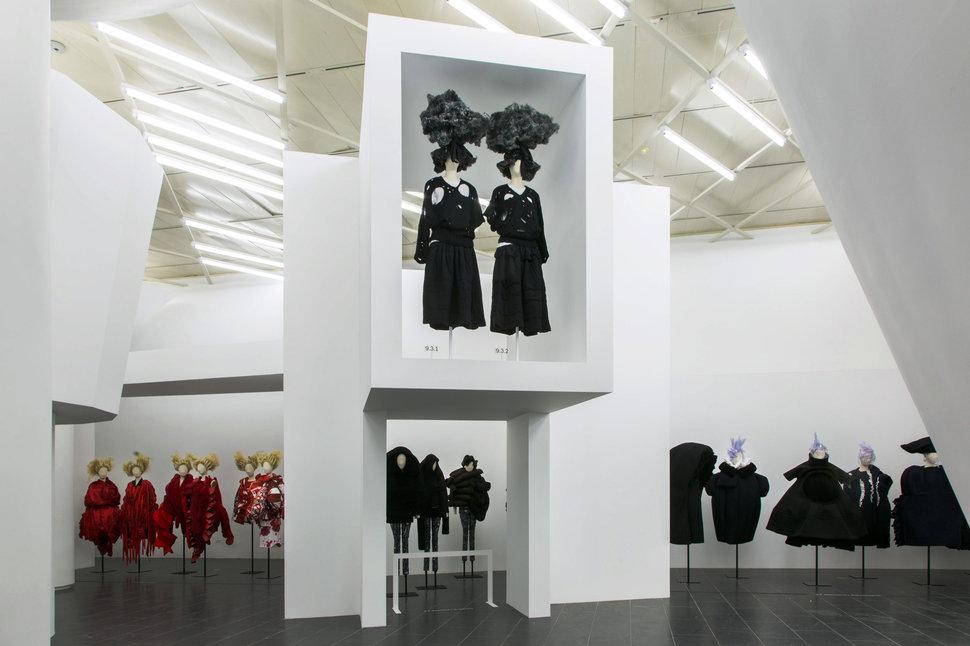 Rei Kawakubo's Comme des Garçons: Art of the In-Between exhibition at the Metropolitan Museum of Art.  Photo courtesy of the Metropolitan Museum of Art.