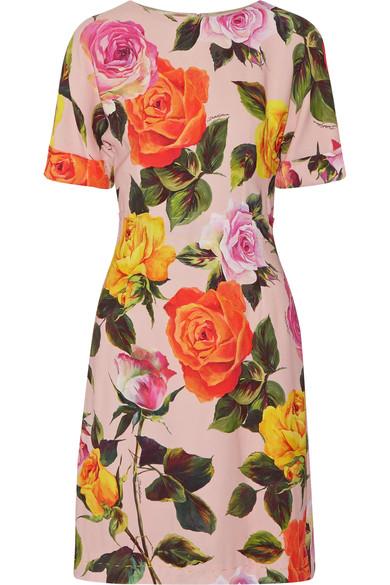 Dolce & Gabbana - Floral-Print Cady Dress