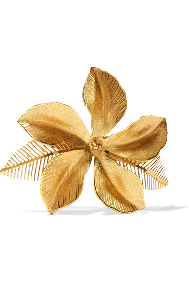 Jennifer Behr - Hibiscus Gold-Plated Hairclip