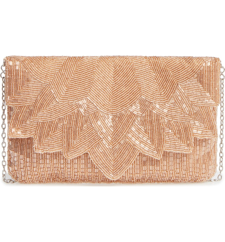 La Regale - Beaded Petal Flap Clutch
