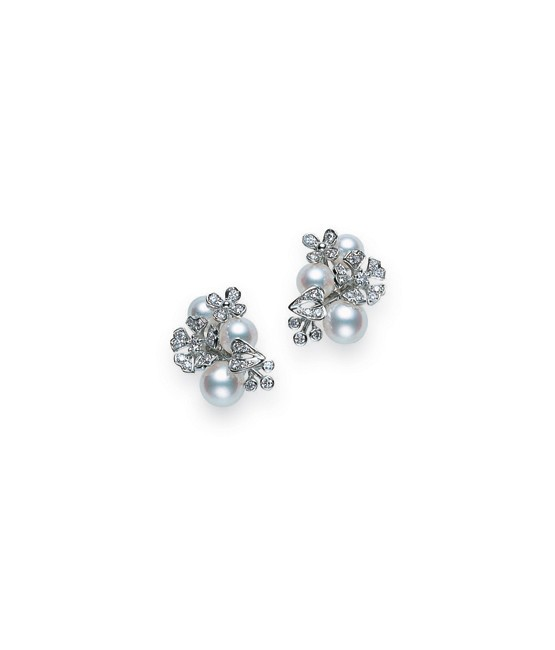 Mikimoto - Floral Earrings