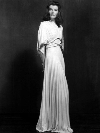 Katharine Hepburn in Valentina for  The Philadelphia Story  stage production. Image courtesy of pinterest.com.