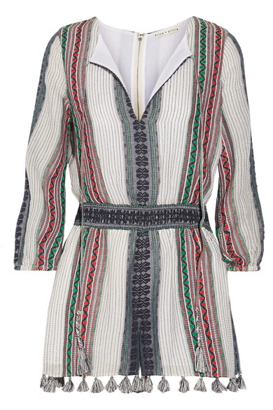 Alice and Olivia Cotton Gauze Play Suit