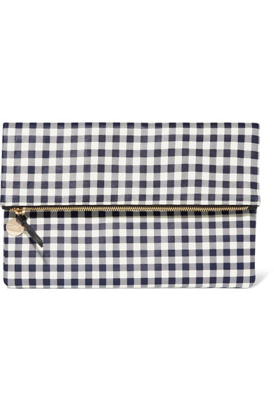 Claire V Gingham Clutch