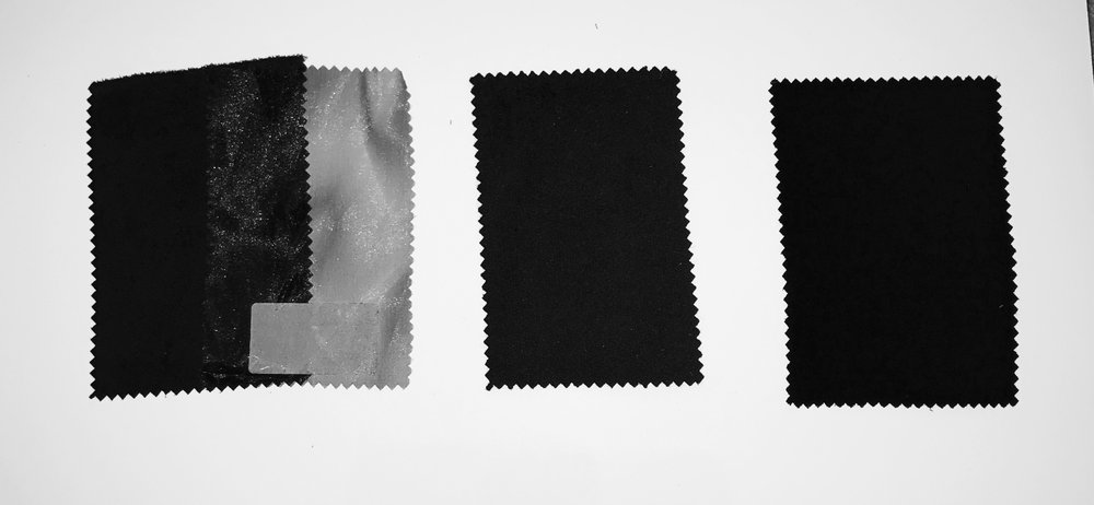 Black Fabric Swatches