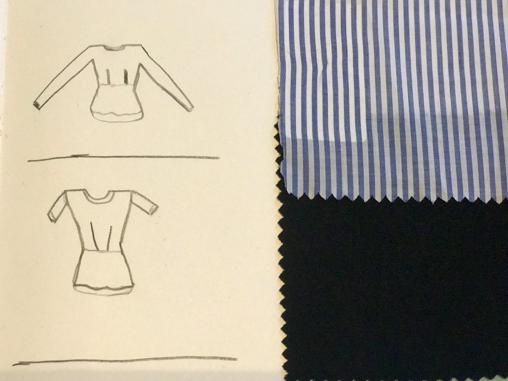 Fabric Swatches T Shirt and Long Sleeve