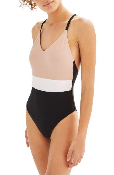 Topshop: Colorblock One-Piece