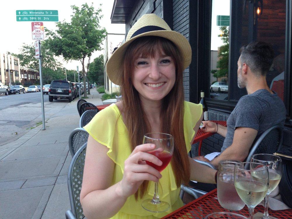 Lisa Wine in the Sun