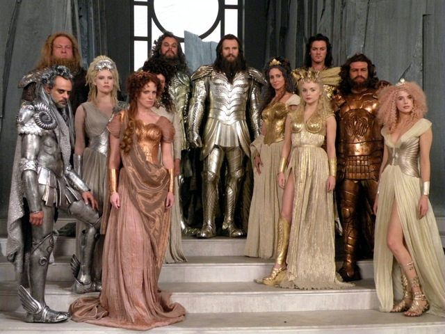 "Costumes from ""Clash of the Titans."""