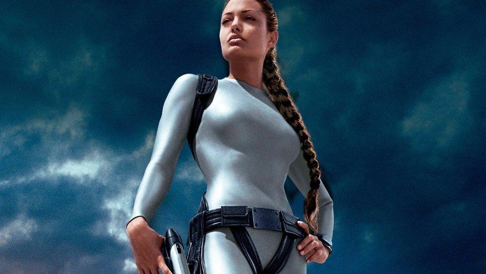 "Angelina Jolie in ""Tomb Raider."""