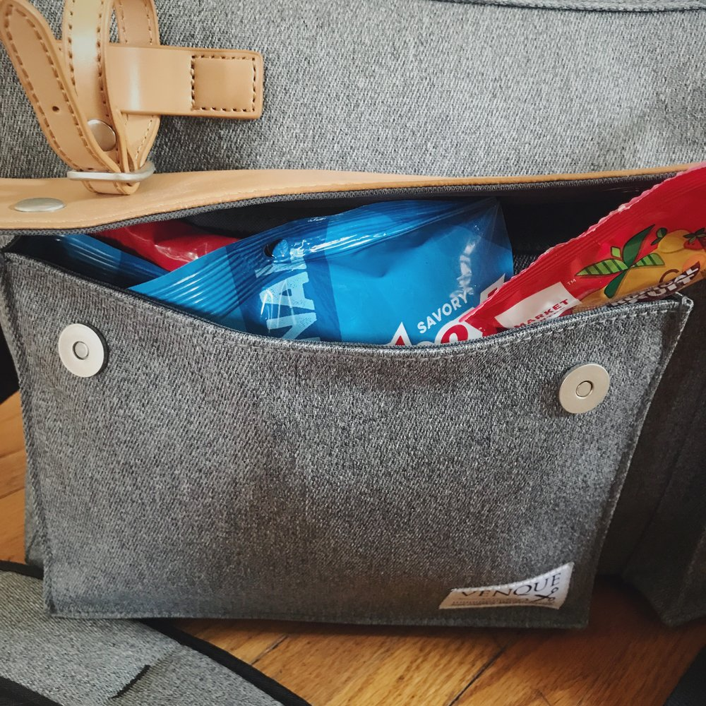 A dedicated pocket for snacks.